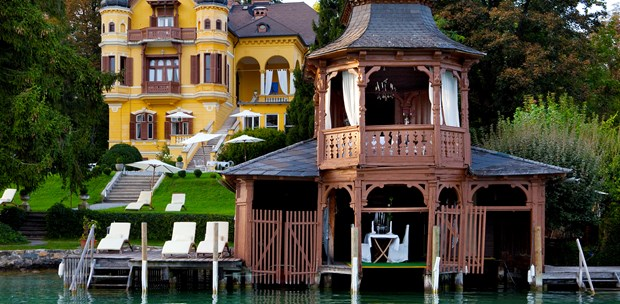 Destination-Wedding - Mehrtägige Packages: 3-tägiges Rahmenprogramm - Kärnten - Hotel SCHLOSSVILLA MIRALAGO - die wundervolle, einzigartige Location direkt am Wörthersee -